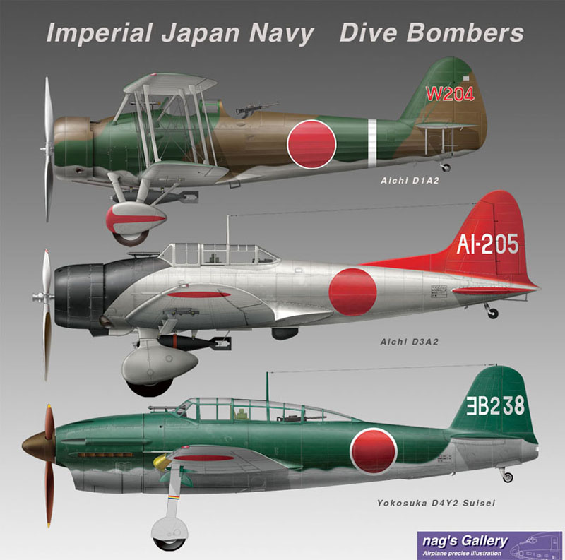 Imperial Japan NAVY Dive Bombers